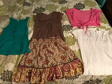 Womens Clothing Lot 2 Size Small / Medium 1 Skirt 4 Shirts Old Navy Aero Char