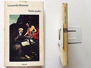 Leonardo Sciascia Todo modo Einaudi Coralli 1974 prima edizione rilegato