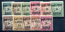ST PIERRE et MIQUELON  PORTO 1925 Yvert TT 10-20 ** POSTFRISCH(F1475