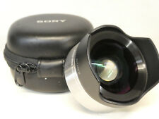Sony VCL-ECU1 Ultra Wide 0.75x Converter lens and Case - Good Condition