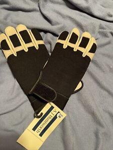 AJ Huntworth Driving Gloves Mens Medium Black White