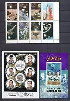 State of Oman gestempelt Nichtamtliche Marken Motiv Raumfahrt siehe Bild