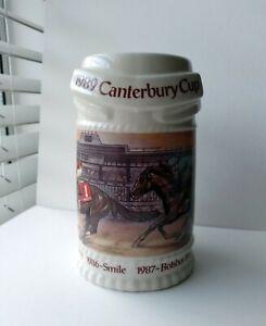 1989 Canterbury Cup Stein Mug Limited Edition Canterbury Downs