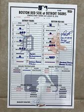 b1a249009a5fbf Game-Used Line-Up  David Ortiz Hits 532nd Career HR SIGNED INSCRIBED MLB