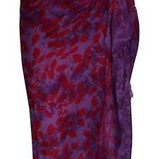 Sarong lila violett blickdicht Strandtuch Pareo Wickelrock Lunghi Stola Tuch 25