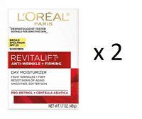 L'Oreal Revitalift Anti-Wrinkle + Firming Day Moisturizer, SPF 25, 1.7 oz (2 Pk)