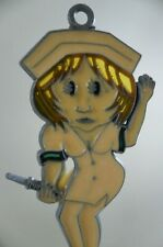 Vintage Naughty Sexy Nurse With Needle Suncatcher Outdoor Ornament Big Butt RARE
