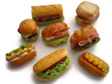 8 Fast Food  Burger Sandwich Dollhouse Miniatures Food Supply Deco
