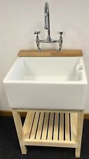 Complete Set , Wooden Stand , Belfast Sink & Bridge Tap - Ideal Utility /Kitchen