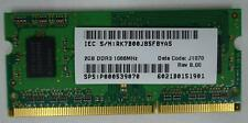 Toshiba Laptop Memory Card 2GB DDR3 From Satellite C655 1066MHz