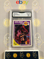 1989 Fleer Earvin Magic Johnson #77 - 10 GEM MINT GMA Graded Basketball Card