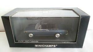 BMW 2002 CABRIOLET MINICHAMPS SCALA 1/43