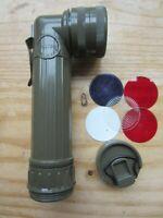 NEW Fulton MX-991U, USA Military Surplus OD Flashlight In Original,Box W/Lenses