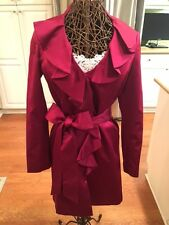 RASPBERRY PINK COAT DRESS FROM WHITE HOUSE BLACK MARKET - SIZE S