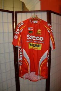 Saeco  Cannondale Valli &Valli  cycling jersey  XXL . ALY