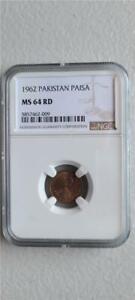 Pakistan 1 Paisa 1962 NGC MS 64 RD