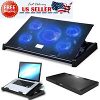 11-17 inch Laptop Cooling Pad 5 Fans Gaming Notebook Cooler LED Fan Dual USB