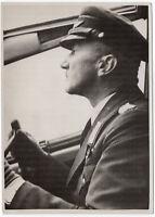 Ein General als Copilot. Orig-Pressephoto um 1940