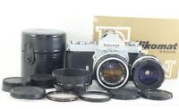 [Exc+++] Nikon Nikomat FTN w/ NIKKOR-S Auto 50mm F1.4 / NIKKOR-H 28mm F3.5
