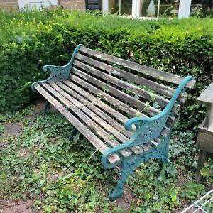 Vintage 3 legged Cast Iron Park Bench w center leg - Rare! (Oh Pickup only)