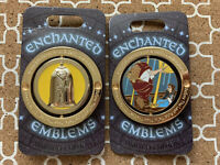 Disney -Enchanted Emblems- Beauty and the Beast pin Belle LE 3000 Rose LOVE Qty1