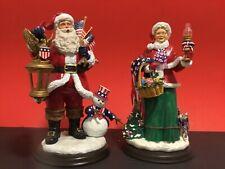Danbury Mint Star Spangled Mrs. Claus & Santa - Christmas Holidays