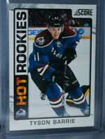 2012-13 Score #505 Hot Rookies Rookie RC Tyson Barrie Colorado Avalanche