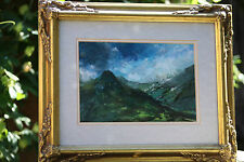 """Southern France, """"Storm in Pyrenees"""",Vintage Acrylic Painting,D.Pattison, Signed"""