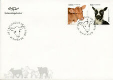 Iceland 2018 FDC Baby Farm Animals Lamb Sheep Cows 2v S/A Set Cover Stamps
