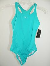 NWT Youth Girls Size 14 * NIKE * 1-Piece Swimsuit Teal Whole Piece