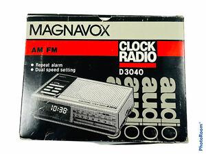 🔥 Vintage • Magnavox AM FM Clock Radio • D3040 • New • D