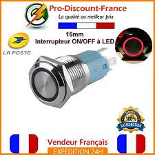 1 Bouton Poussoir Interrupteur LED ROUGE Métal 5v - 220V 5A Arduino Voiture 12v