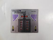 VINTAGE TRANSFORMERS G1 SKULLCRUNCHER DECEPTICON UNUSED STICKER SHEET HASBRO