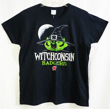 University of Wisconsin Witchconsin Badgers Halloween Witch Black T-shirt (M)