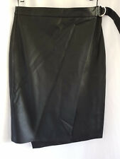 SPORTSGIRL, MEDIUM, BNWT, BLACK PU FAUX LEATHER SKIRT