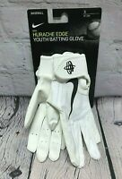 NEW Nike Boy's Huarache Edge Batting Gloves Baseball White Size S 129862