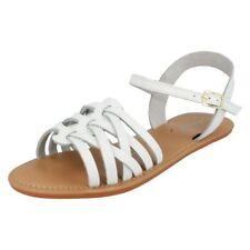 Sandalias y chanclas de mujer planos de color principal blanco Talla 38.5