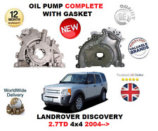 Per Land Rover Discovery 2.7TD 276DT 4X4 2004- > Pompa Olio Completo Con Gasket