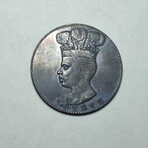 Coin one penny Barbados 1788