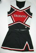 "TROJANS High School Cheerleader Uniform Outfit Choose Sz 30-38"" Top 22-27 Skirt"