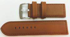 Reloj De Pulsera piel auténtica marrón EXCELENTE qual. 26mm, sthal cerrar NUEVO
