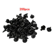 200X Car 6mm Black Plastic Buckle Hole Plastic Rivets Fasteners For Toyota Honda