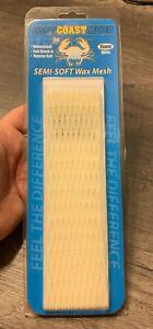 East Coast Mesh Lacrosse Semi-Soft Wax Mesh 15mm White