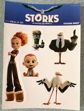 *rare* STORKS movie STICKERS Andy Samberg Kelsey Grammer Jennifer Aniston