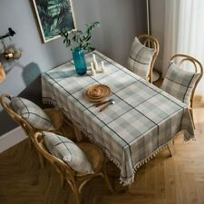 Table Cloth Modren Plaid Tablecloth Rectangle Dining Table Cover Home Decoration