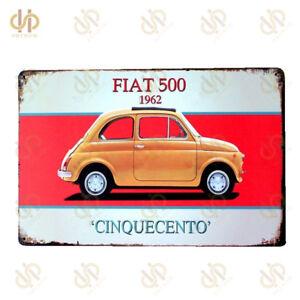 "1962 Fiat 500 Cinquecento Vintage Tin Signs 8""*12""Metal Painting Wall Art Decor"