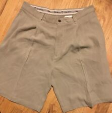 Men's Tommy Bahama Beige Shorts Size 34 Pleated Shorts 34 Silk Shorts Tan 34