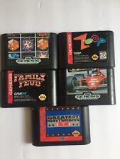Sega Genesis Lot of Five Games, Cart only, Zoop, Columnes,Family Feud, ETC