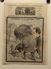 Caricature, Journal l'éclipse,L'enterrement de la caricature,Gill, 30 nov. 1873