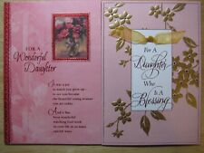 Lot Of 2 Large Christian Dayspring Valentine'S Day Greeting Cards for Daughter